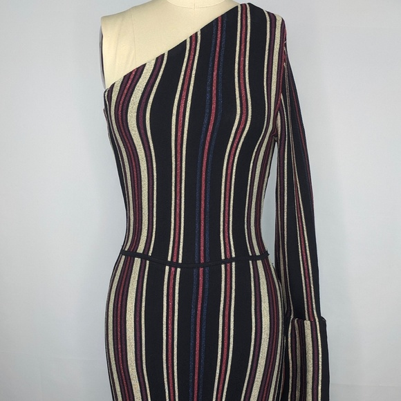 RACHEL Rachel Roy Dresses & Skirts - Rachel Roy Tenley Dress Metallic Stripe sz XS NWT